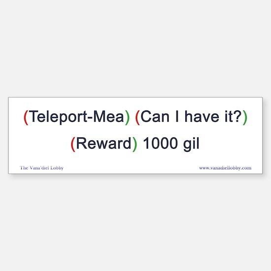 Teleport-Mea Bumper-size Bumper Bumper Sticker