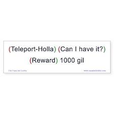 Teleport-Holla Bumper-size Bumper Sticker