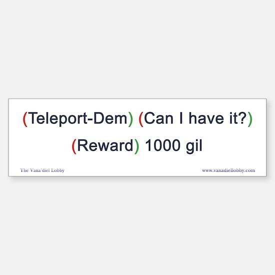 Teleport-Dem Bumper-size Bumper Bumper Sticker