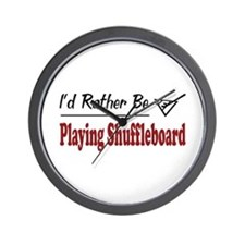 Rather Be Playing Shuffleboard Wall Clock