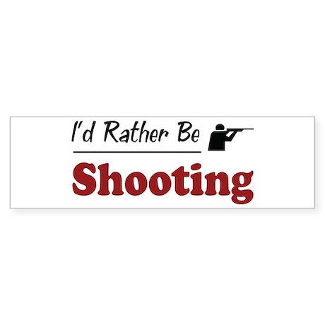 Rather Be Shooting Bumper Sticker (10 pk)