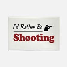 Rather Be Shooting Rectangle Magnet