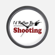 Rather Be Shooting Wall Clock