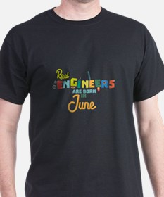 Engineers are born in June Cvl3m T-Shirt