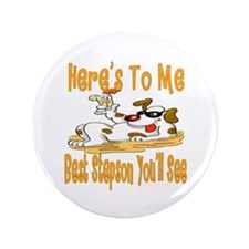 "Cheers for Stepsons 3.5"" Button (100 pack)"