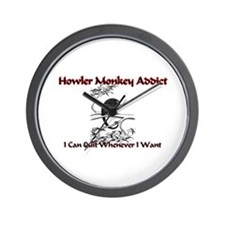 Howler Monkey Addict Wall Clock