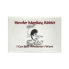 Howler Monkey Addict Rectangle Magnet
