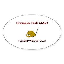 Horseshoe Crab Addict Oval Decal