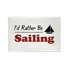 Rather Be Sailing Rectangle Magnet