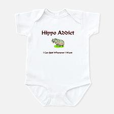 Hippo Addict Infant Bodysuit