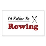 Rather Be Rowing Rectangle Sticker 10 pk)