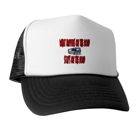 What happens on the road Trucker Hat