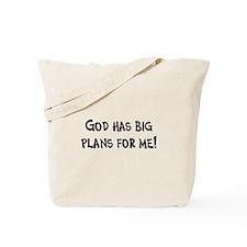 God's Plan for Me Tote Bag