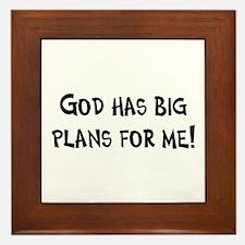God's Plan for Me Framed Tile