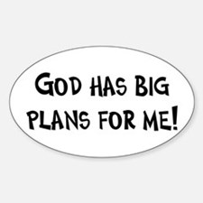 God's Plan for Me Oval Decal