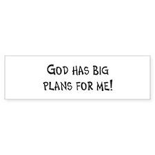 God's Plan for Me Bumper Bumper Sticker