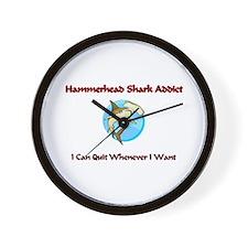 Hammerhead Shark Addict Wall Clock