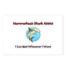 Hammerhead Shark Addict Postcards (Package of 8)