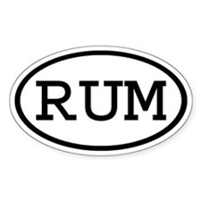 RUM Oval Oval Decal
