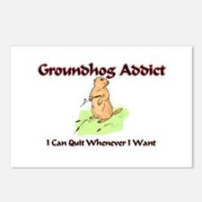 Groundhog Addict Postcards (Package of 8)