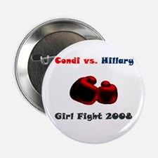 Condoleeza Rice vs. Hillary Clinton Button