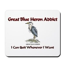 Great Blue Heron Addict Mousepad
