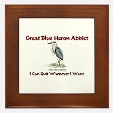 Great Blue Heron Addict Framed Tile