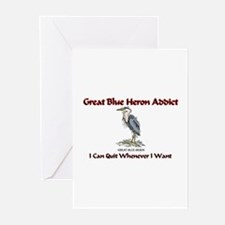 Great Blue Heron Addict Greeting Cards (Pk of 10)