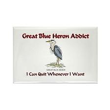 Great Blue Heron Addict Rectangle Magnet