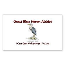 Great Blue Heron Addict Rectangle Decal