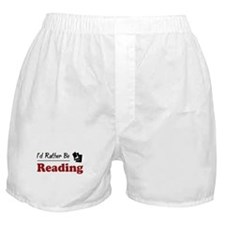 Rather Be Reading Boxer Shorts