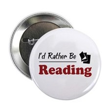 """Rather Be Reading 2.25"""" Button (10 pack)"""