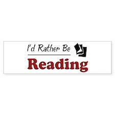 Rather Be Reading Bumper Sticker (10 pk)