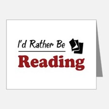Rather Be Reading Note Cards (Pk of 20)
