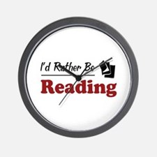 Rather Be Reading Wall Clock