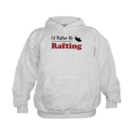Rather Be Rafting Kids Hoodie