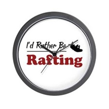 Rather Be Rafting Wall Clock