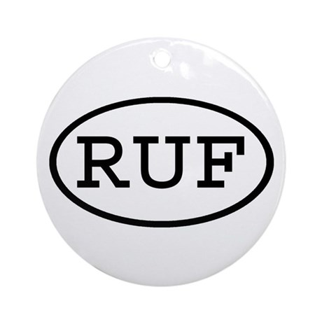 RUF Oval Ornament (Round)