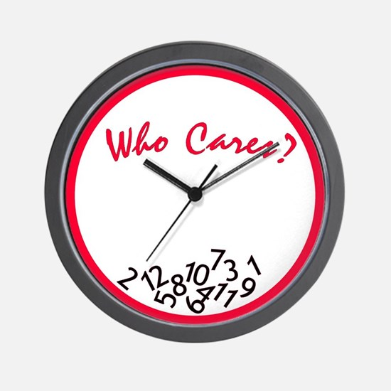 Who Cares? Wall Clock <br> (red & black)