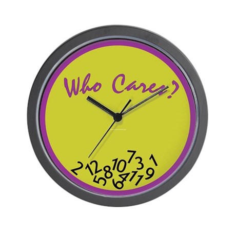 Who Cares? Wall Clock <br>(purple & green)