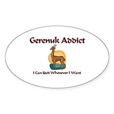 Gerenuk Addict Oval Decal