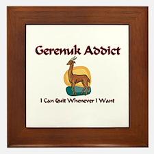 Gerenuk Addict Framed Tile