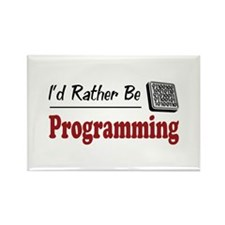 Rather Be Programming Rectangle Magnet