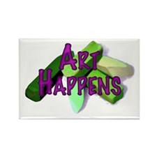 Art Happens Pastels Rectangle Magnet