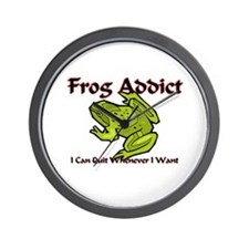 Frog Addict Wall Clock