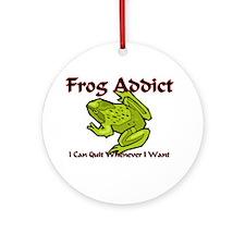 Frog Addict Ornament (Round)