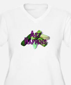 Art Happens Pastels Plus Size V-Neck T-Shirt