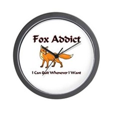 Fox Addict Wall Clock