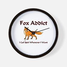 Fox Addict Wall Clock