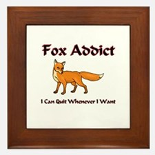 Fox Addict Framed Tile